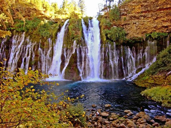 LA Times article on driving the Volcanic Legacy Scenic Byway: The gushing 129-foot Burney Falls in McArthur-Burney Falls Memorial State Park. (Michele Bigley ) #California #Oregon
