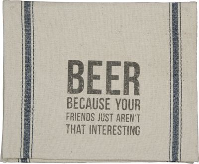 Item # 23449 | Dish Towel - Beer Friends | Primitives by Kathy