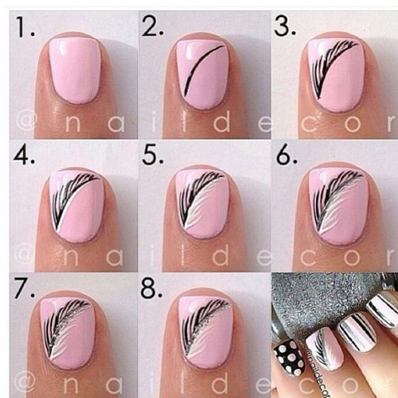 .@nailfashionfix | Obsessed with feather nails at the moment if you have done any #nailfashionfi... | Webstagram - the best Instagram viewer