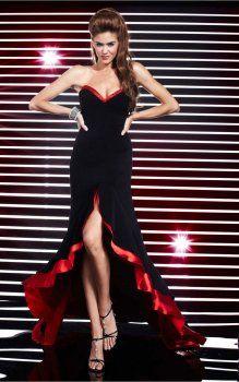 Asymétriques des robes bustier de soirée pas cher