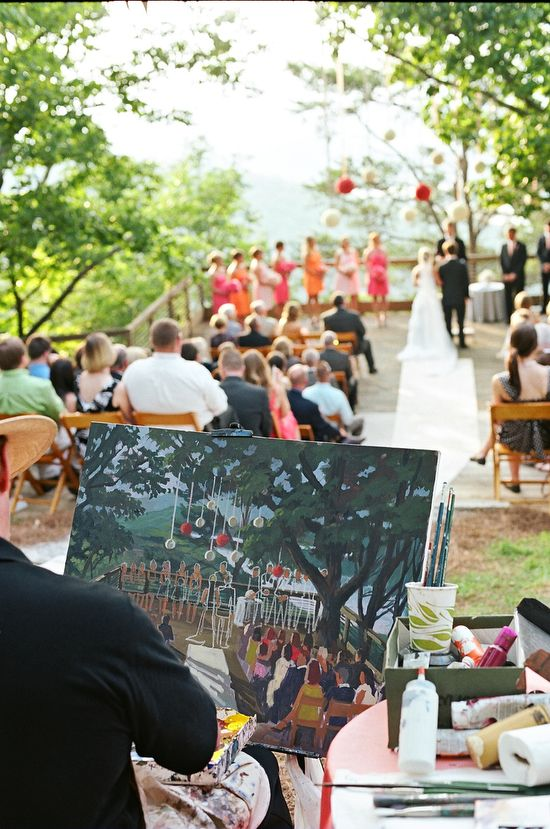 amazing - capturing the wedding on canvas
