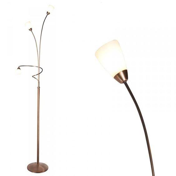 Golvlampa med dimmer 'Elegancia 3' Klassisk brons - Passande för ...