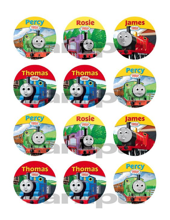 Thomas the train, Trains and Cupcake toppers on Pinterest