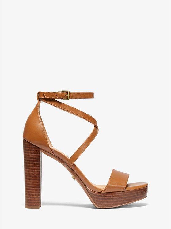 Charlize Leather Platform Sandal