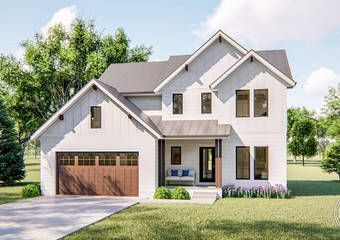 2 Story Modern Farmhouse Plan Collins Modern Farmhouse Plans House Plans Farmhouse Farmhouse Plans