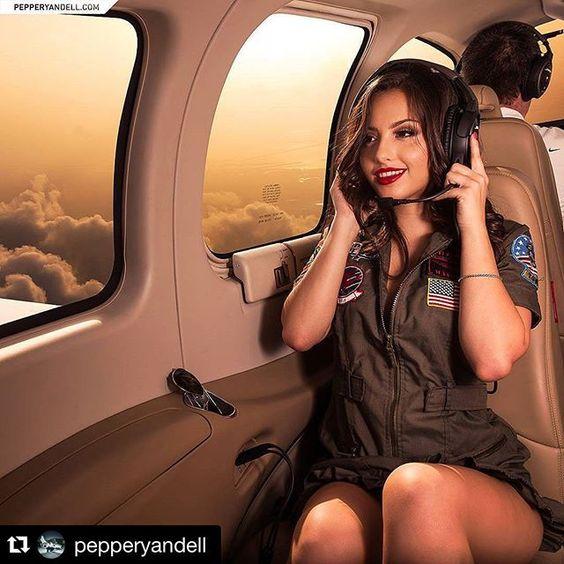 #Repost @pepperyandell  Sky-high with my main squeeze. @rachelbug93 MUA: @estephaniemirandamua #fashion #plane #private by modelrevolt