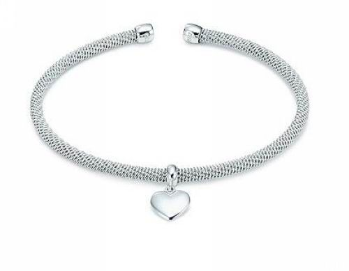 Tiffany Somerset Heart Bangle Silver  $56.00