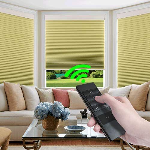 Keego Custom Motorized Blinds Smart Window Cellular Shades Remote