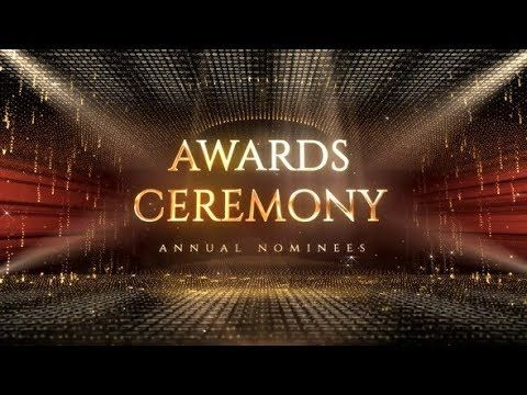 Black Gold Award Ceremony Presentation Ceremony Ppt Template