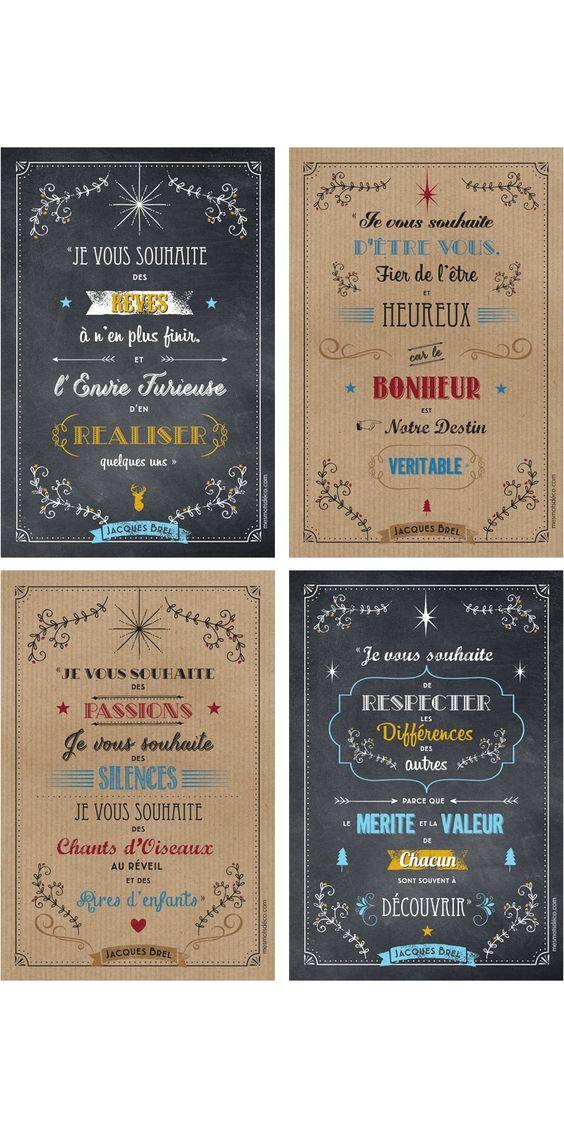 Lot de 4 Cartes de voeux - Jacques Brel - 10*15 cm