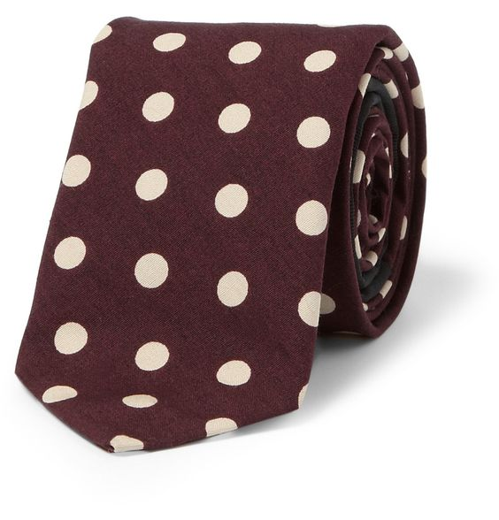 Burberry ProrsumPolka-Dot Cotton Tie|MR PORTER