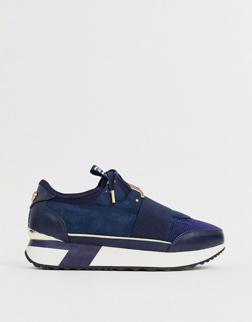 River Island trainers with gold trim in