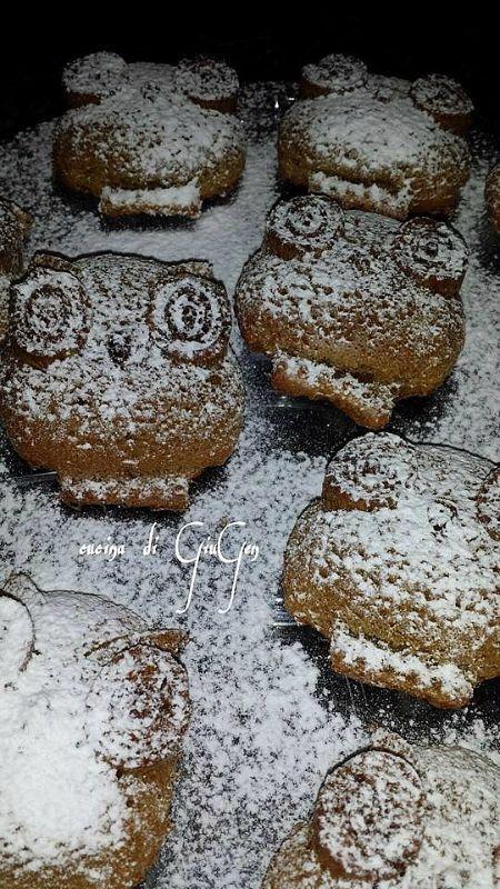 Halloween: Gufi/ Owl cupcakes - ricetta dolci senza burro.  No butter recipe