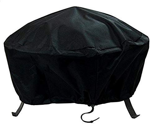 Amazon Com Sunnydaze Round Fire Pit Cover Outdoor Heavy Duty Waterproof And Weather Resistant 30 Inch Black Gat Fire Pit Cover Square Fire Pit Fire Pit