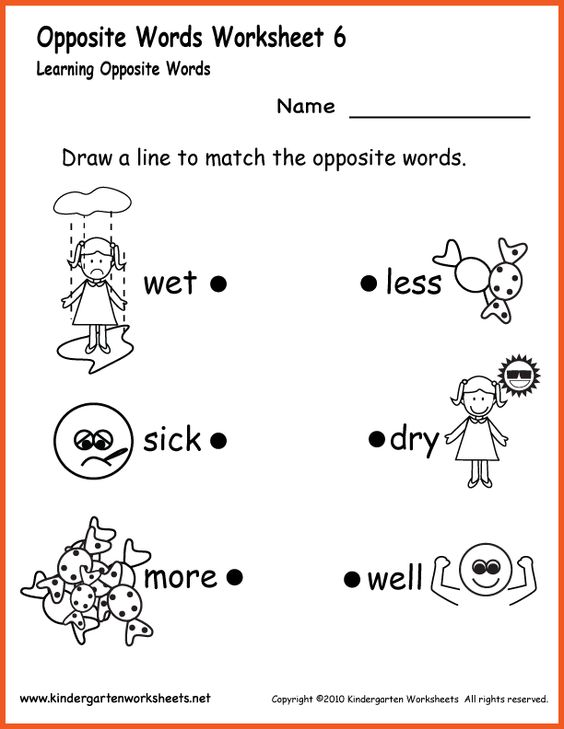 Number Names Worksheets : opposite words worksheets for ...