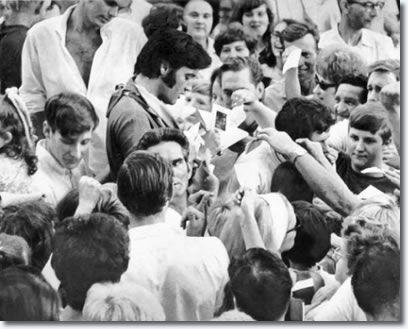 Elvis outside Graceland in 1969.
