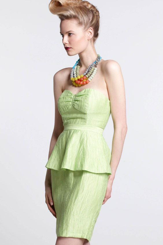 I WANT it!! It would have been perfect for a formal tea I went to a few years ago. Lima Bustier Dress - Anthropologie.com