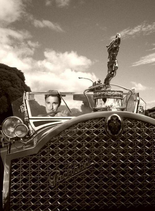 Errol Flynn driving his Packard...