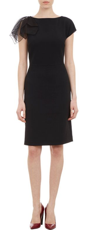 Fendi Organza-Sleeve Dress at Barneys.com