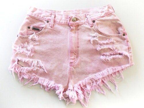 Light Pink High Waisted Shorts