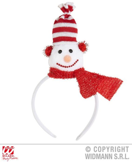 Hair headband with snowmen - Las Fiestas