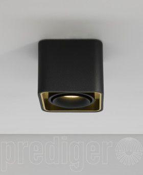 Mini Light Case LED Deckenleuchte Außen Schwarz-Innen Gold
