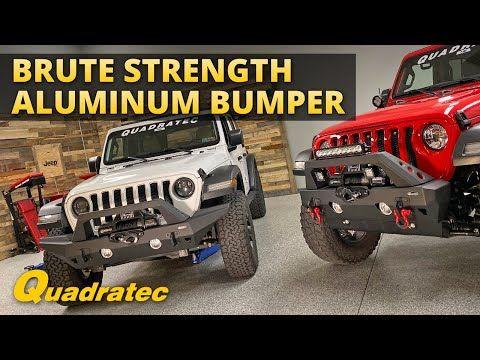 Quadratec Aluminum Brute Strength Front Bumper For Jeep Wranger Jl