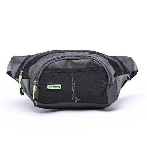 Black Multi-function Pockets Outdoor Sport Fanny Pack Bag Women Men Waist Packs Bag