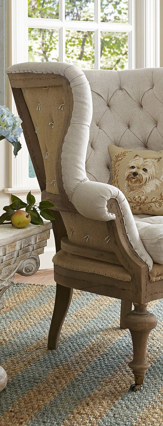 Linen Wing Chair | Furniture