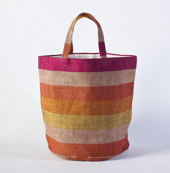 Each tote was hand-woven by women working in a Fair Trade program in Bangladesh.