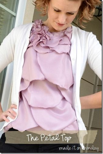 The Petal Top shirt...such a cute variation from the ruffle shirts I've been seeing.