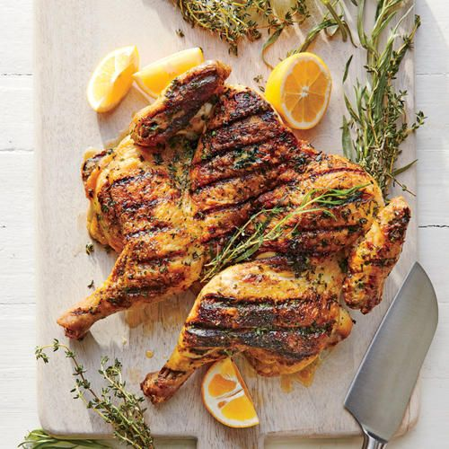 300 Calorie Chicken Recipes Cooking Light Chicken Under A Brick Brick Recipe Cooking Recipes