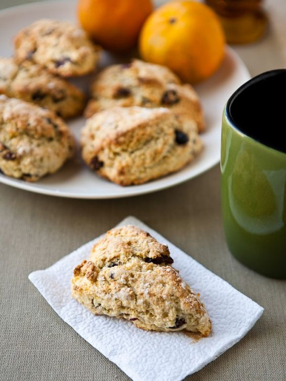Breakfast: Mixed Berry Tangerine Scones from @Angie McGowan (Eclectic Recipes)