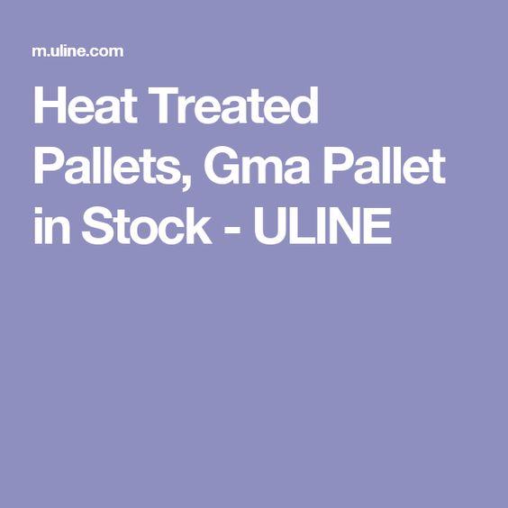 Heat Treated Pallets, Gma Pallet in Stock - ULINE