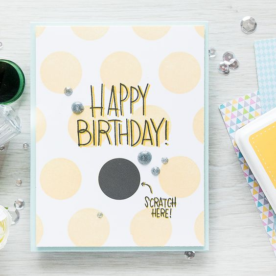 Simon Says Stamp | September 2016 Card Kit - Scratch Off Cards - Happy Birthday by Yana Smakula