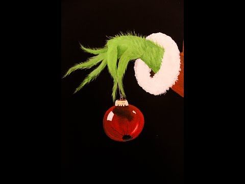 The Grinch Acrylic Painting Time Lapse Youtube Grinch Crafts Ornament Drawing Christmas Art