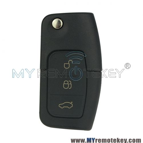Flip Remote Car Key For Ford B Max Fiesta Focus Galaxy Kuga S Max 2008 2009 2010 2011 Id63 Chip Hu101 433 Mhz 3m5t 15k601 Ab Ford Fiesta Cars Car Keys