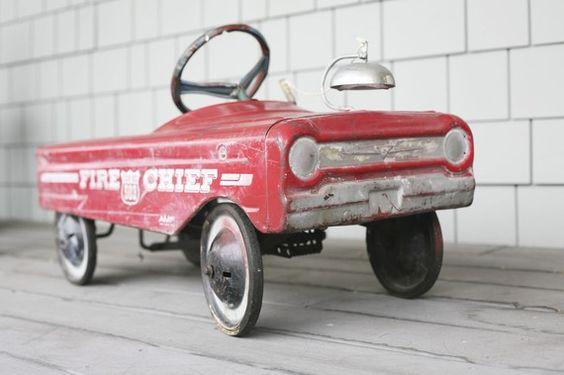little red fire truck