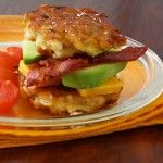 Corn- Corn & Zucchini Fritter Stacks with Bacon and Avocado | Zucchini ...