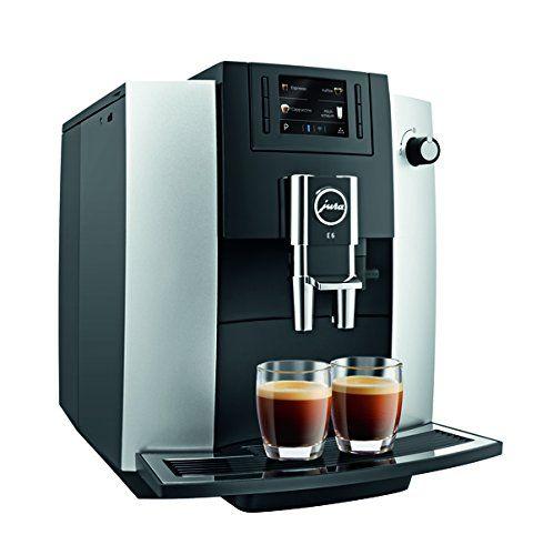 Jura 15070 E6 Automatic Coffee Center Platinum With Images Automatic Coffee Machine Coffee Machine Espresso Coffee Machine