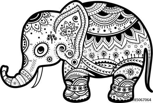 Pin De Jakki Coburn En Coloring Books For Adults Elefantes Pintados Mandalas Animales Dibujo De Elefante