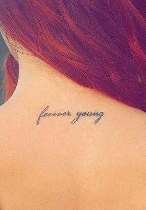 Forever young tattoos and body art and the arch on pinterest for Forever young in japanese tattoo