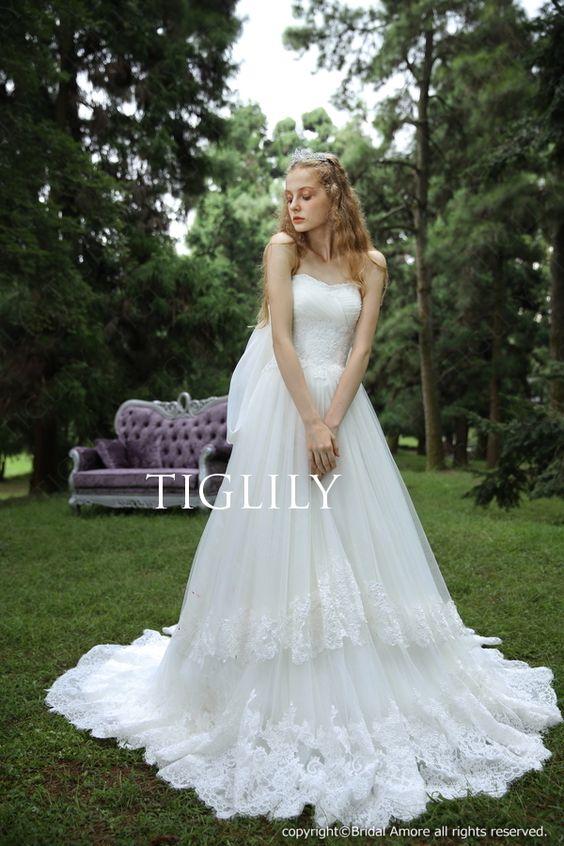 【楽天市場】ウェディングドレス_ウエディングドレス_ホワイトドレス_Aライン_プリンセス(w304):ブライダルアモーレ
