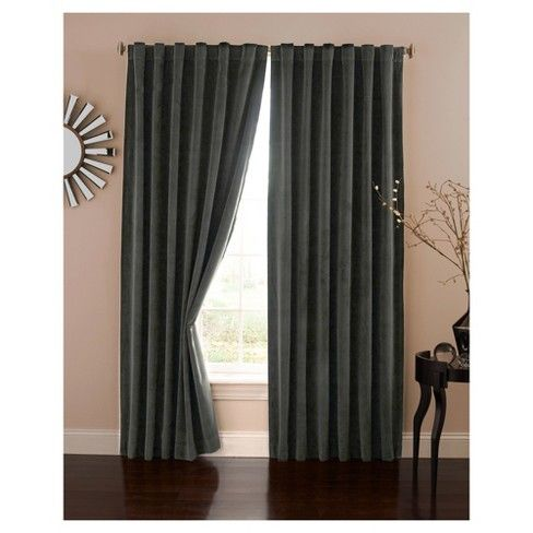 Bradley Velvet Absolute Zero Total Blackout Window Panel Eclipse Home Theater Curtains Theatre Curtains Panel Curtains