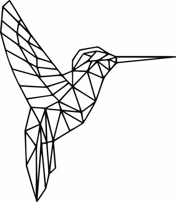Geometric bird polygonal bird digital wall art dxf file | Etsy