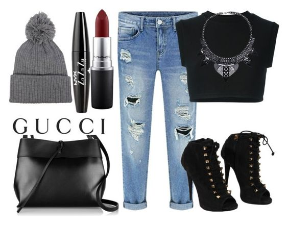 """Gucci"" by kahi13 ❤ liked on Polyvore featuring moda, adidas Originals, Giuseppe Zanotti, Kara, Gucci, MAC Cosmetics e NYX"