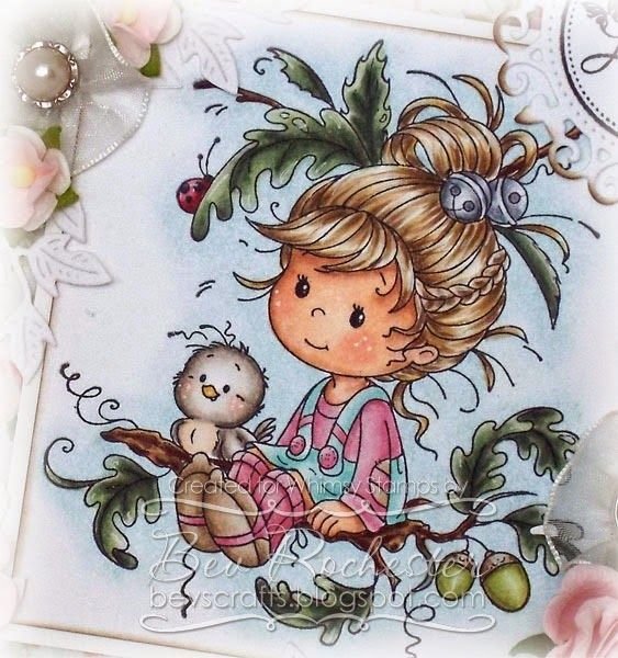 Wee Oak Tree Girl for Whimsy July hop