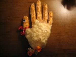 Popcorn turkey glove