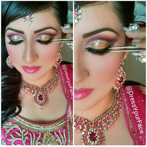 How To Do Bridal Makeup At Home Pictures : Bollywood wedding makeup by dress your face. Indian bride ...