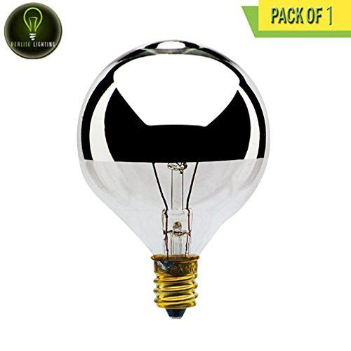 Perlite Lighting 25g16hm 25watt G16 Half Mirror Candelabra E12 Base 120volt Light Bulb One Pack To Watch Additionally For This Item V Light Bulb Bulb Light